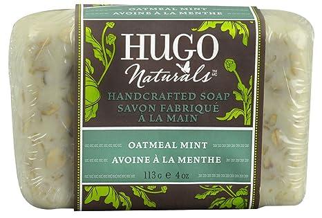 Los jabones artesanales, harina de avena menta de 4 onzas (113 g) -