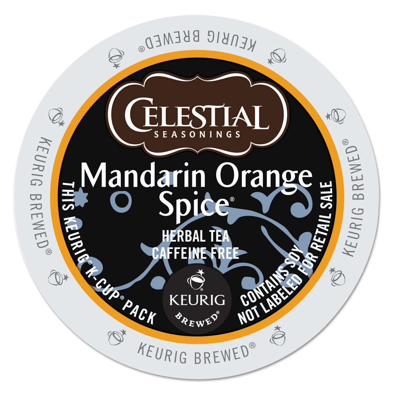 Celestial Seasonings 14735CT Mandarin Orange Spice Herb Tea K-Cups, 96/carton