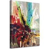 Abstract Picture Canvas Wall Art: Colorful Artwork with Gold Foil Painting Print on Canvas for Office or Living Room (24…