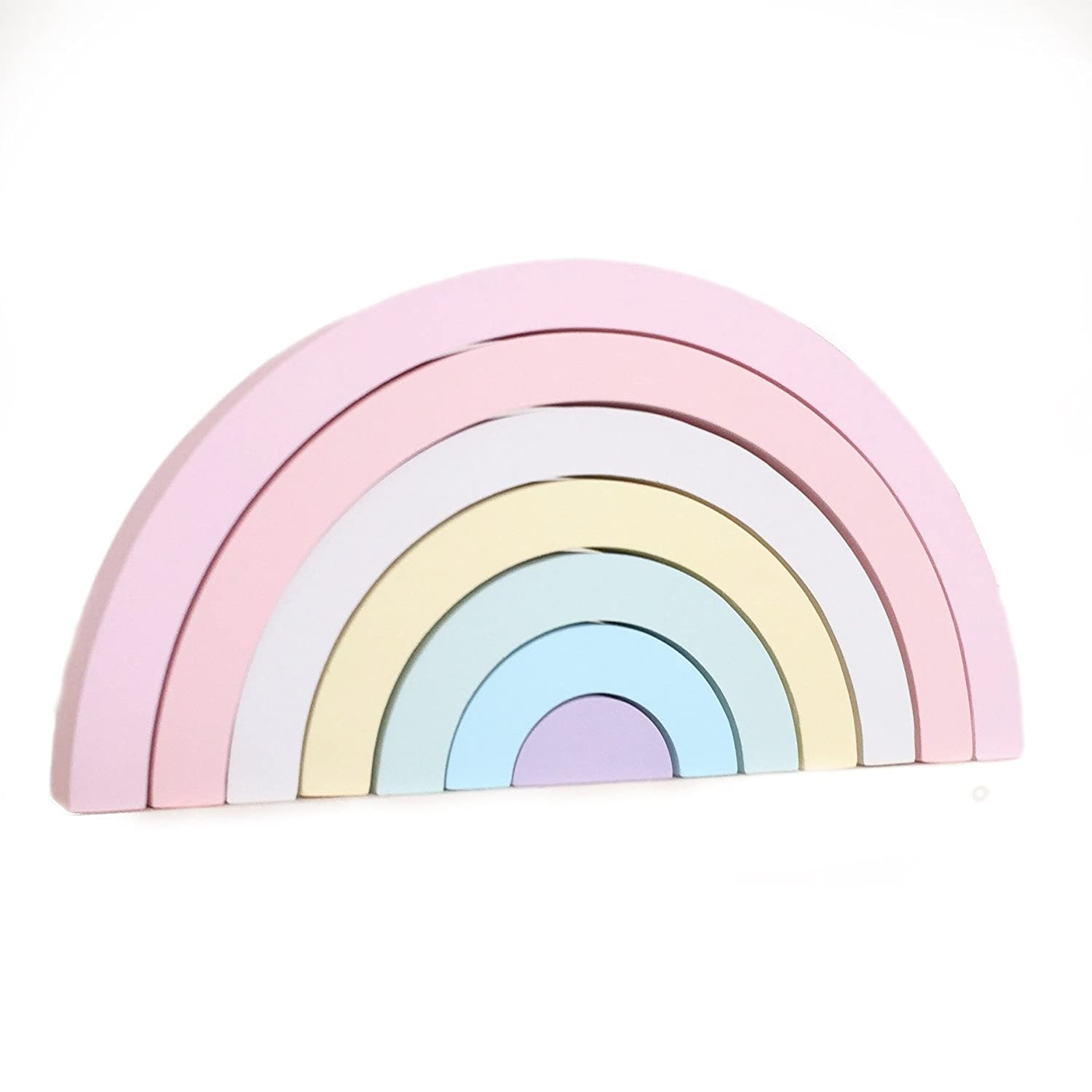 Pastel Wooden Rainbow Stacking Toy