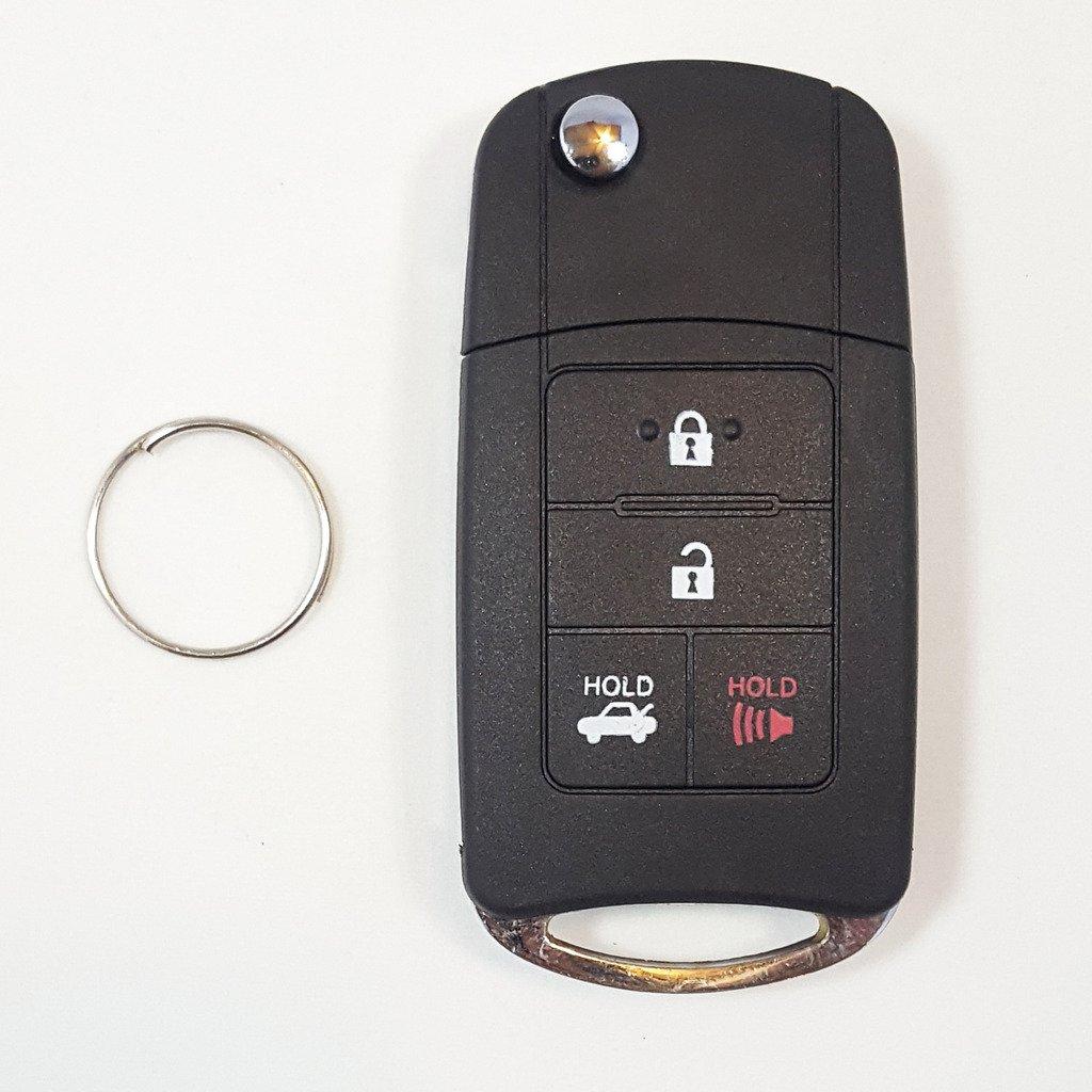 修正スタイルフリップキーケースシェルfor Toyota Prius C 2012 – 2013リモートキー4ボタンby ri-keyセキュリティ B072YMN7WG