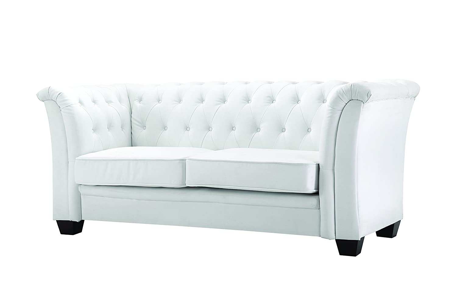 Amazon.com: Glory Furniture Mid Century Design Tufted Sofa ...