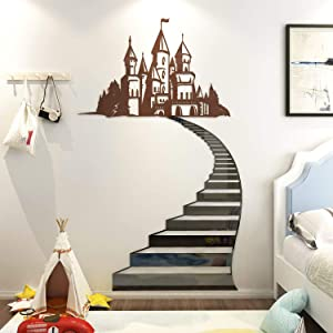 DecorSmart Wall Decals Stickers Decor for Gilrs Kids Bedroom, Large Size Princess Castle Room Decor for Girls Birthday Party Decoration