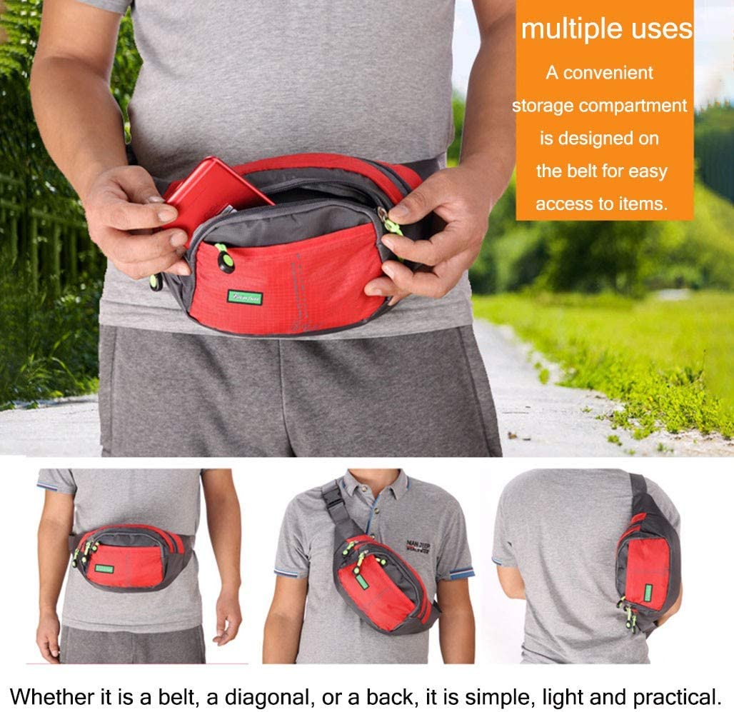 HWJIANFENG Waist Pack Bag Fanny/ Pack for Man,Women,Running Waist Belt,Hip Bum Bag for iPhone 6 7 8,Adjustable Strap for Out Hiking Traveling Cycling