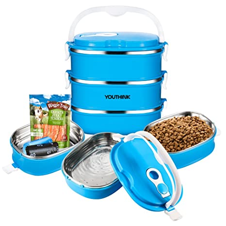 Amazoncom Spill Proof Dog Cat Travel Bowl Portable 304 Stainless