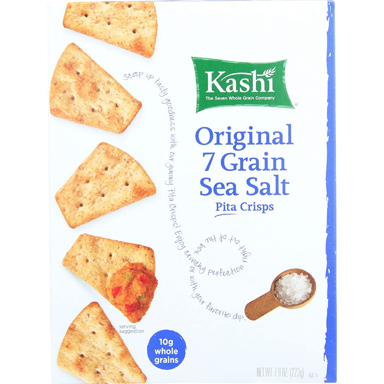 Amazon.com: kashi Original 7 Grain Sea Salt Pita Crisps, 7.9 oz