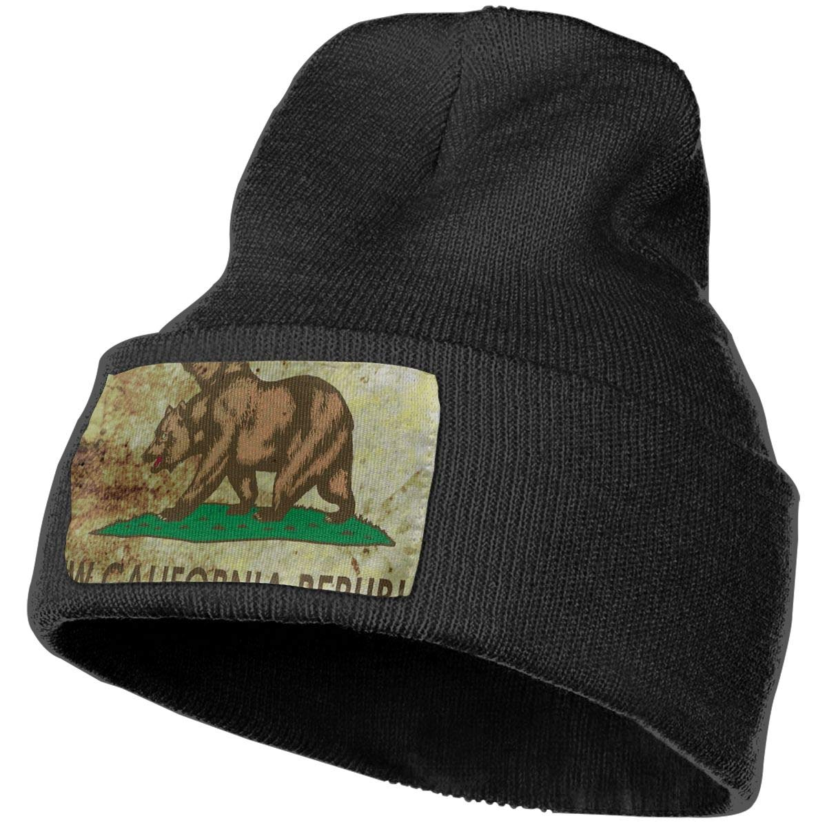 Horizon-t California Bear Unisex 100/% Acrylic Knitting Hat Cap Fashion Beanie Hat