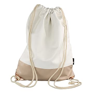193bceced289 Trendy Faux Leather Bag in Cream/White/Brown with Metallic Elements ...