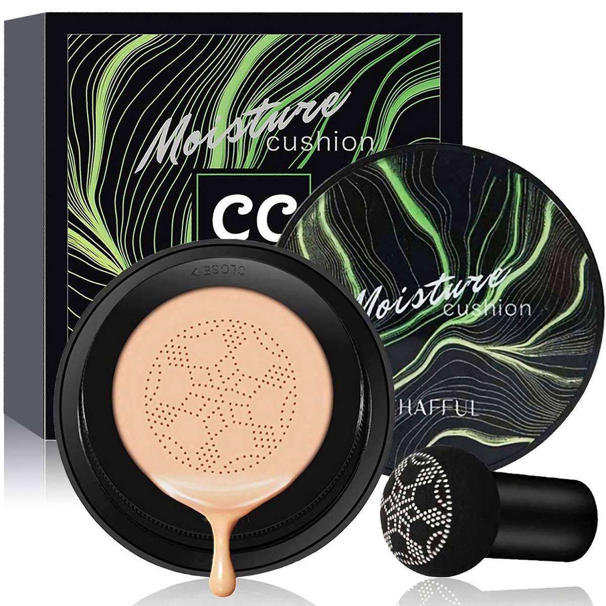 Amazon.com: Air Cushion CC Cream Mushroom Head Foundation, SuperThinker  Moisturizing BB Cream Makeup Long Lasting Matte Concealer (Natural): Beauty