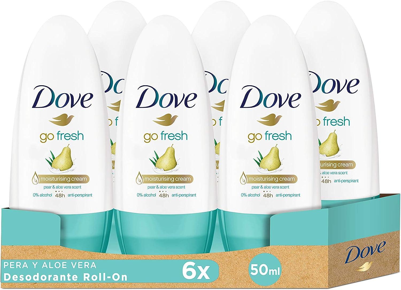 Dove Go Fresh Desodorante Antitranspirante Roll On Pera y Aloe ...