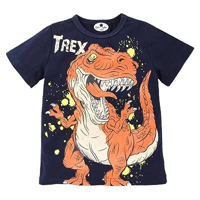 ®GBSELL Little Girls Boys Summer Clothes Dinosaur Soft Tops Cute T-Shirt