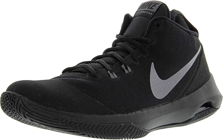Interesar rescate Palabra  Amazon.com   Nike Men's Air Versitile NBK Black/Metallic Dark Grey -  Ankle-High Fabric Basketball Shoe 9M   Shoes
