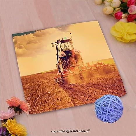 vroselv Custom algodón microfibra Ultra suave mano towel-farmer en tractor preparación de tierra para