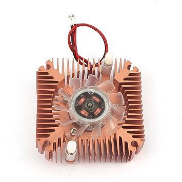Collarín de embrague tarjeta de vídeo VGA disipador de calor del ventilador de refrigeración DC 12V: Amazon.es: Electrónica