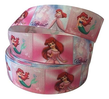 Cinta de tela (1 m, 25 mm), diseño de la Sirenita de Disney ...