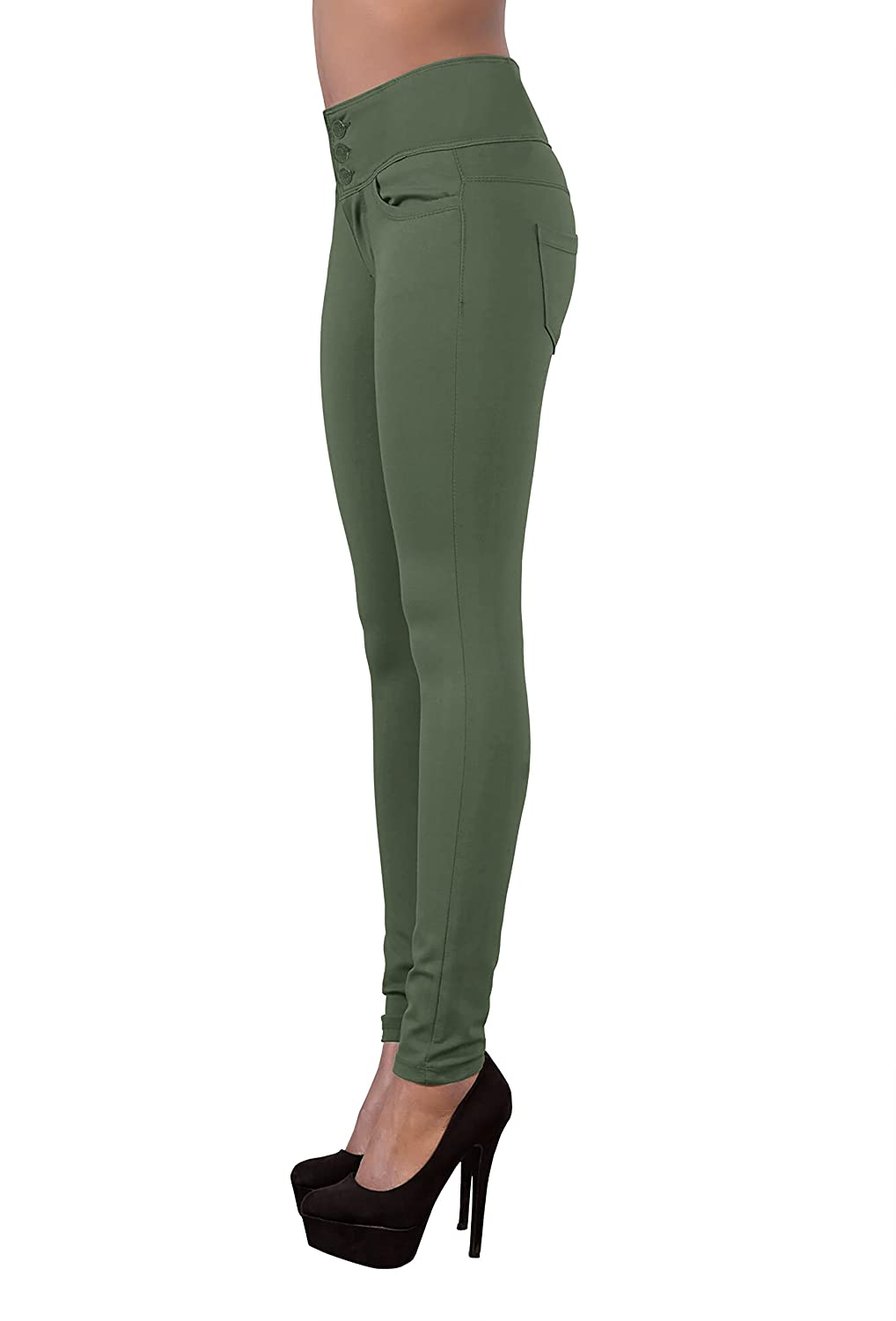 Hybrid /& Company Womens Butt Lift V3 Super Comfy Stretch Denim Jeans P45066SK Olive 9