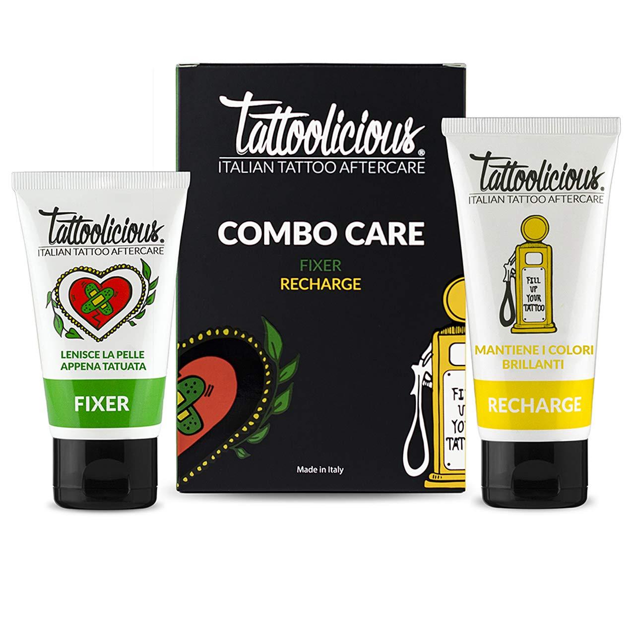 Tattoolicious COMBO CARE - FIXER Crema Calmante con Ingredientes ...