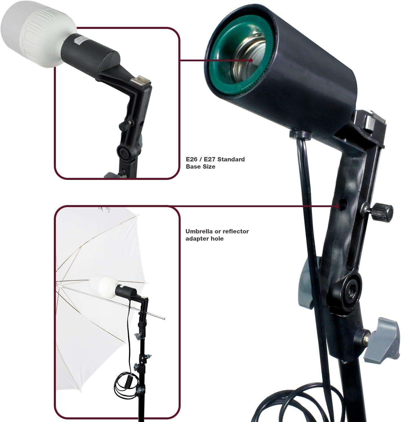 AGG2757 LimoStudio White Umbrella Reflector Lighting Kit Photography Photo Studio Umbrella /& LED Lighting Kit