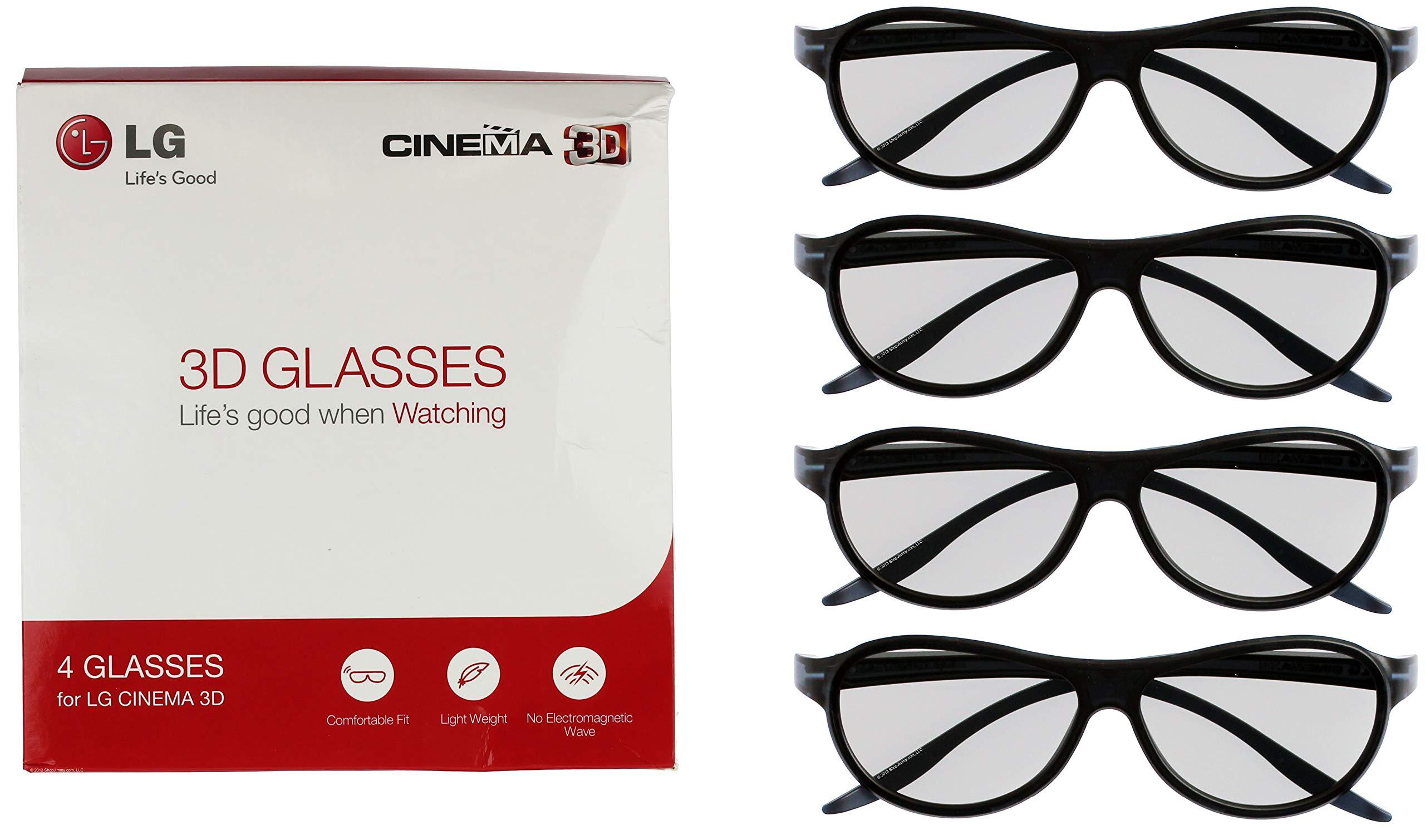 LG Cinema 3D Glasses AG-F310 2012 New Model 2 pairs Black