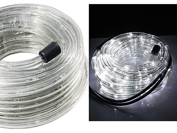 Decorazioni Luminose Natalizie Per Esterni : Vetrineinrete tubo a led luminoso per natale metri luce bianca