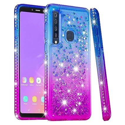 Amazon.com: Samsung Galaxy A9 2018 - Carcasa con purpurina ...