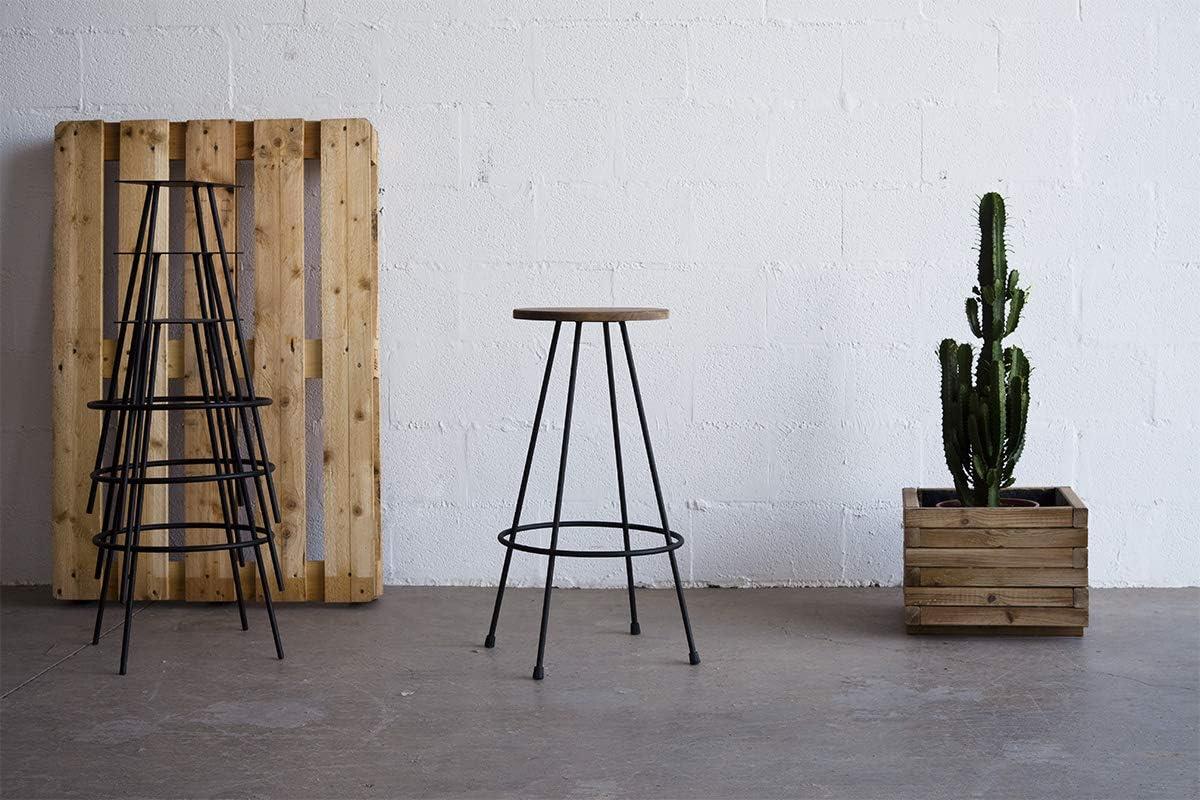 in stile industriale Sgabello vintage per loft Indhouse in ferro e legno Lamar