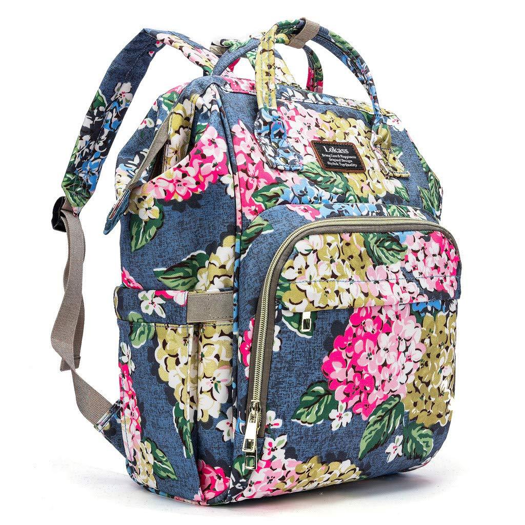 Koolee Womens Fashion Backpack Oxford Waterproof Bag Anti-Theft Shoulder Bag Leisure