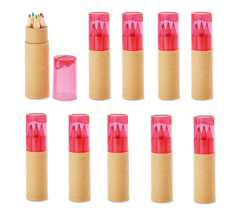 10 Buntstifte Sets mit Spitzer für Kinderparty Hochzeit Restaurant ...