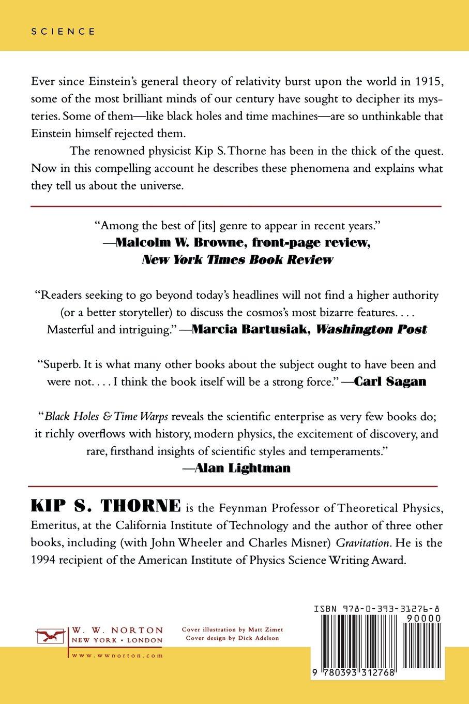 Black Holes & Time Warps: Einsteins Outrageous Legacy Commonwealth Fund Book Program: Amazon.es: Kip Thorne, Stephen W. Hawking: Libros en idiomas ...