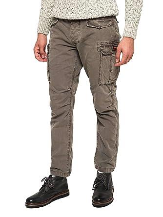 f2f0d884a065a6 Superdry graue Hose für Männer  Amazon.de  Bekleidung