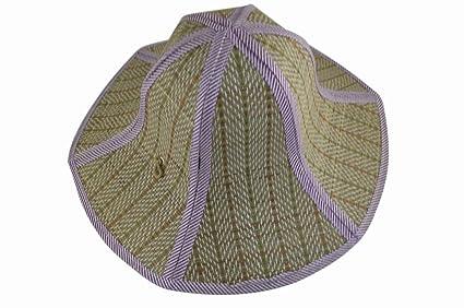 Amazon.com  Gosear Chinese Style Foldable Straw Hat 3439d5014b3