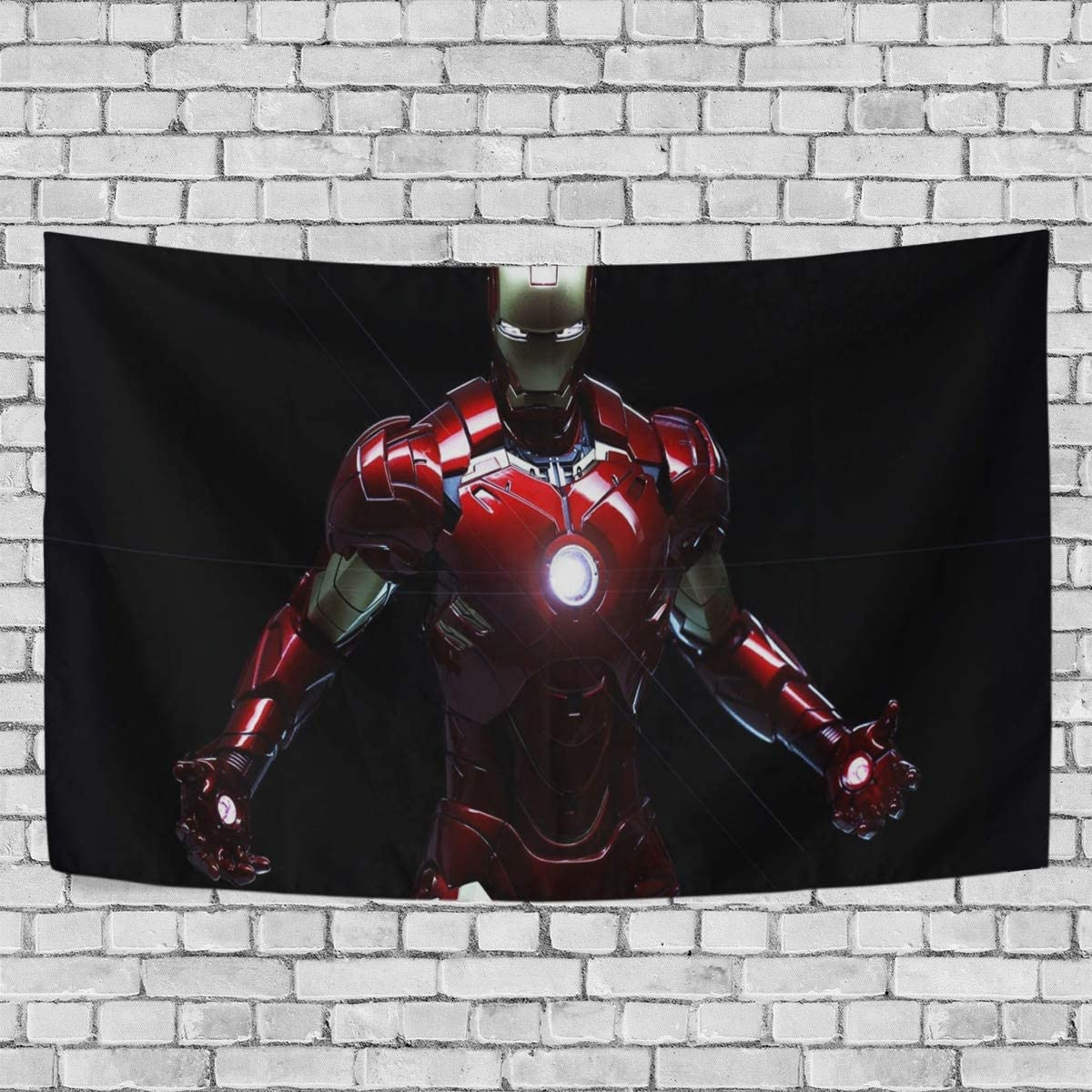 FASHIONDIY Avengers Iron Man Tapestry Wall Hanging Decoration for Apartment Home Art Wall Tapestry for Bedroom Living Room Dorm Fashion 80 x 60 inches