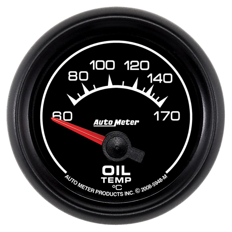 Auto Meter 5948-M ES 2-1/16'' 60-170 Degree C Short Sweep Electric Oil Temperature Gauge by Auto Meter