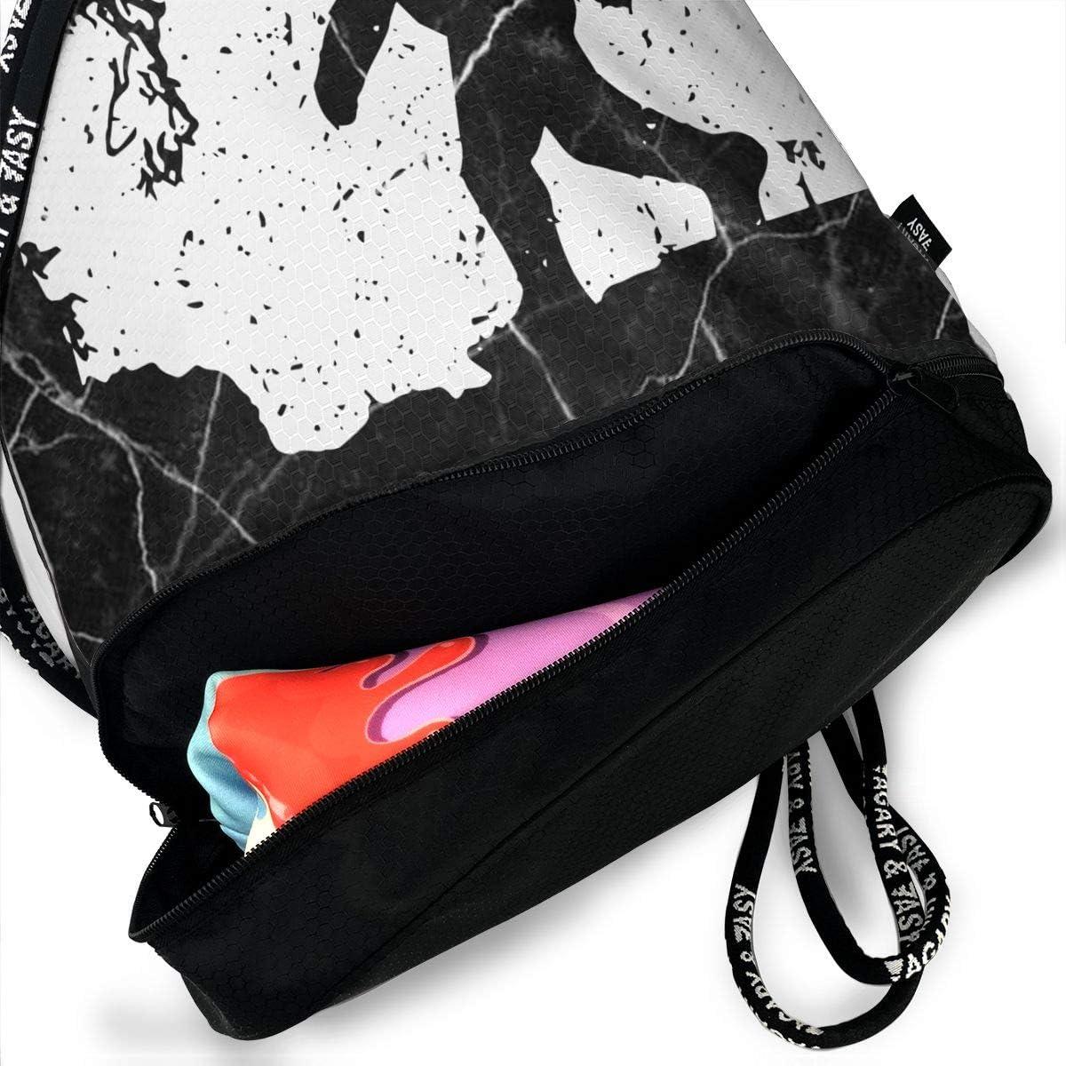 SG0HGO Drawstring Sport Bag Washington Bigfoot Men /& Women Gym Sport Yoga Rucksack Shoulder Bags