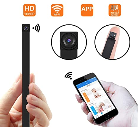 Cámara espía ocultada WiFi, cámara inalámbrica Super Mini 1080P Video de Seguridad con detección de