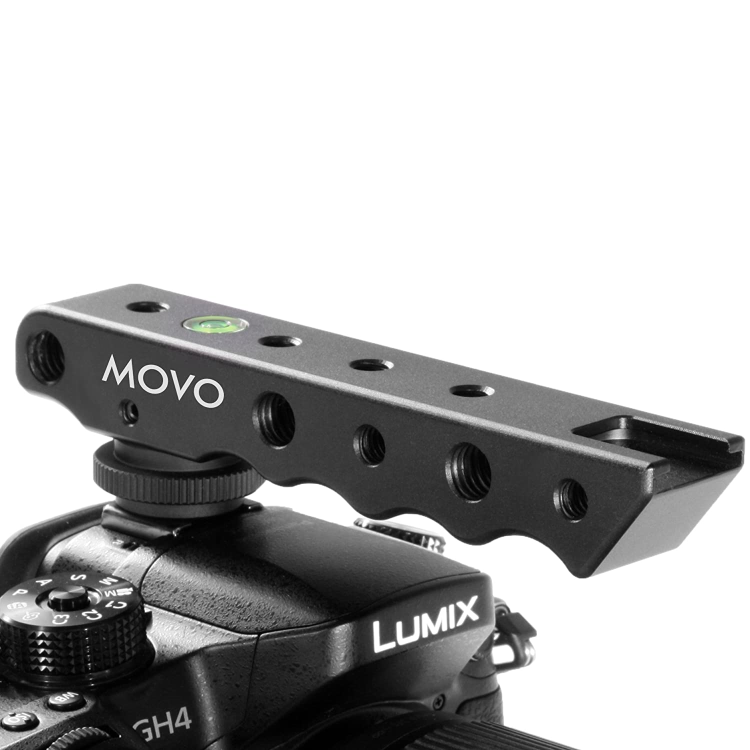 Movo Photo Svh6 Video Stabilizing Top Handle Cold Hot Shoe Bubble Spirit Level For Nikon Canon Pentax Olympus Panasonic Extender Eos Dslr Cameras Camera