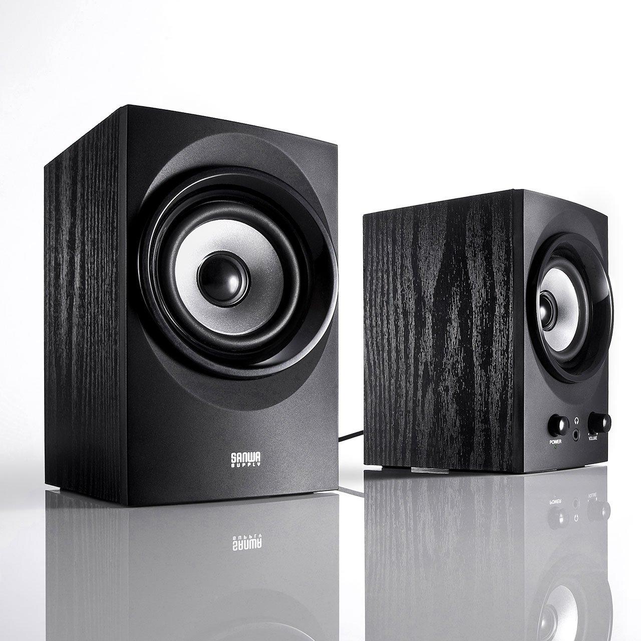 SANWA SUPPLY high-power USB speaker MM-SPU9BK (Black) by Sanwa (Image #3)