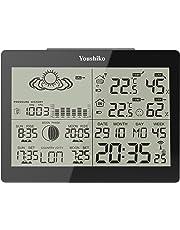 Youshiko YC9360 Indoor Outdoor Wireless weather Temperature Humidity - Black