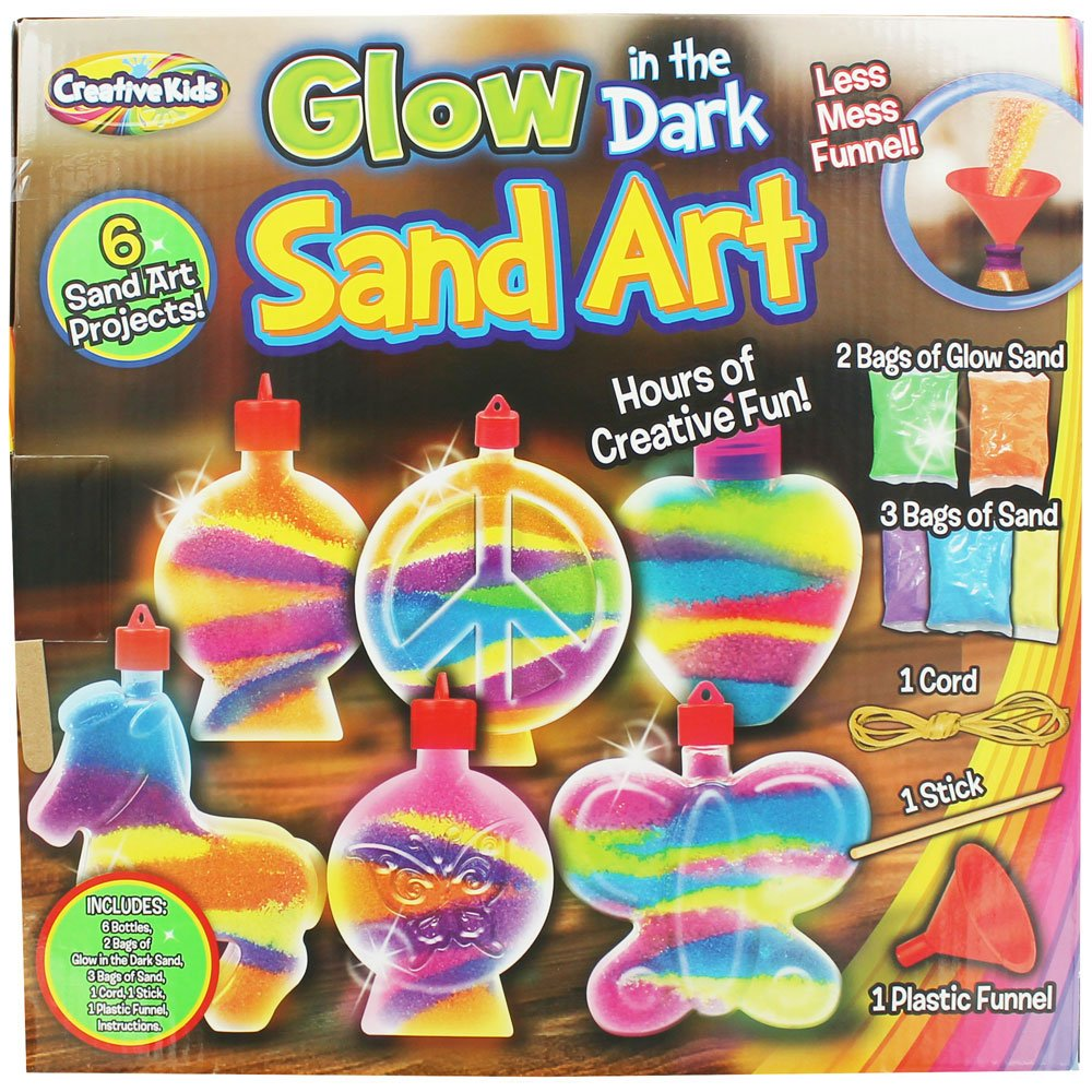 CK Activity Glow in the Dark Super Sand Art Kit 6 Sand Art Projects
