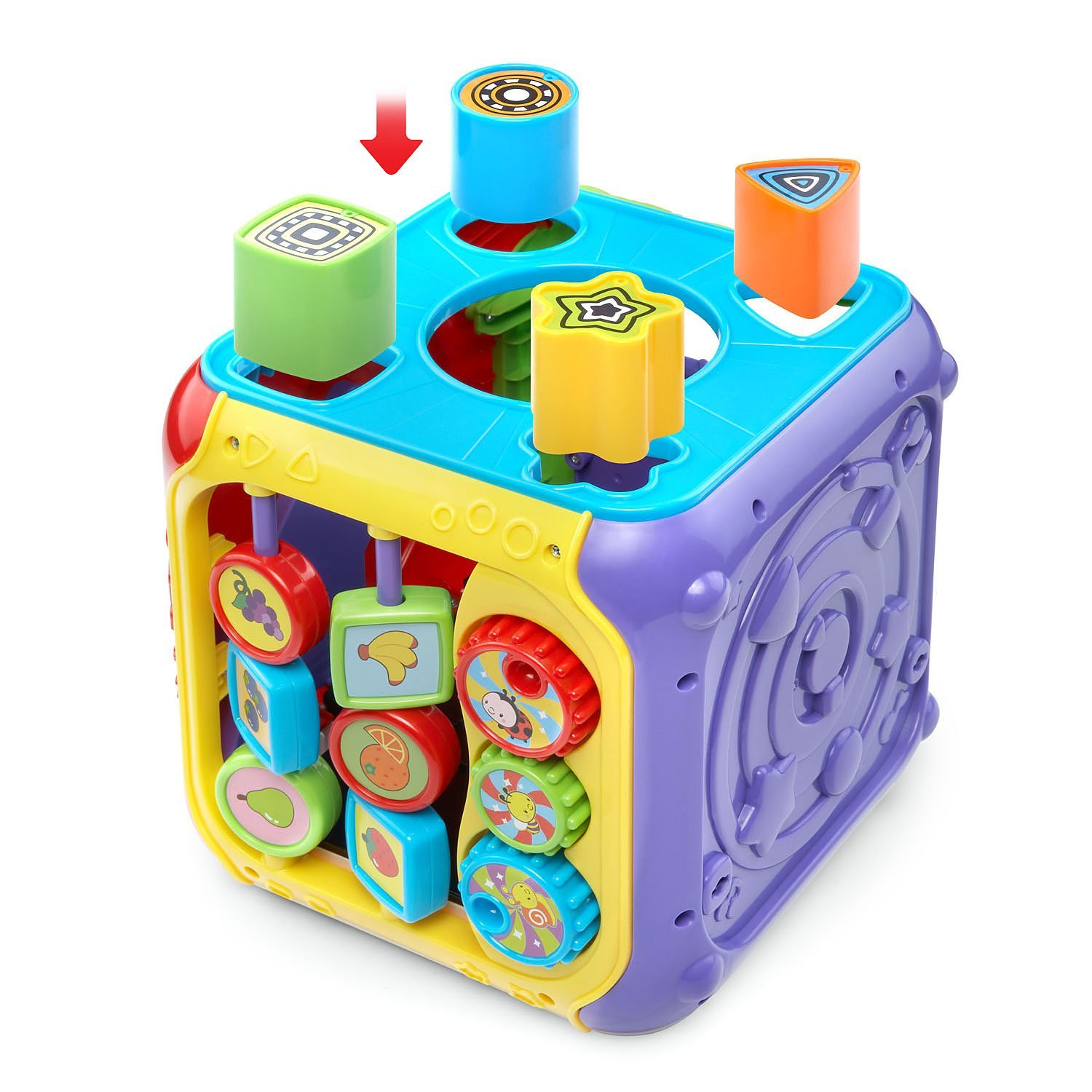 VTech Sort and Discover Activity Cube, Red by VTech (Image #6)