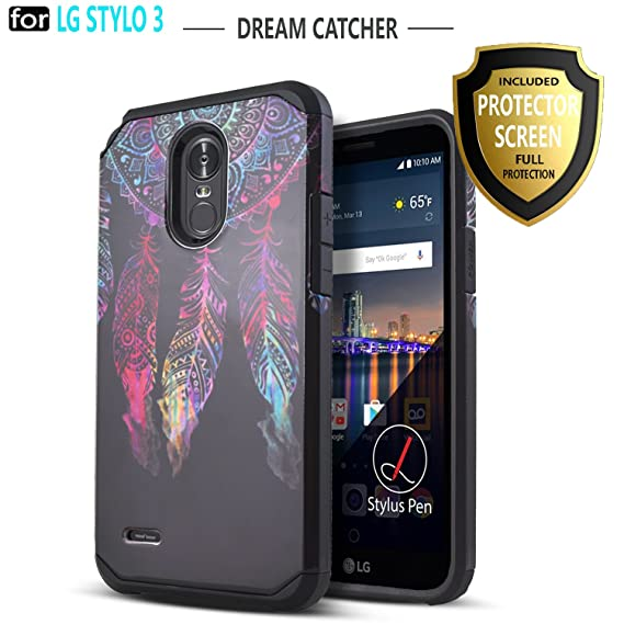 watch 92244 2c6a7 LG Stylo 3 Case, LG Stylo 3 Plus Case, Starshop [Shock Absorption] Dual  Layers Impact Advanced Protective Cover with [Premium HD Screen Protector  ...