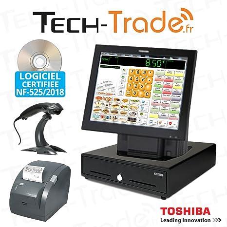 Pack caja registradora táctil Toshiba todo comercio Certificado ...