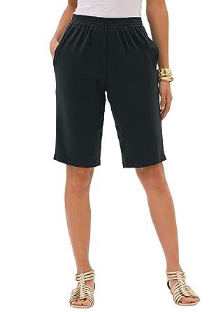 42861663a5c Roamans Women s Plus Size Soft Knit Bermuda Shorts at Amazon Women s  Clothing store