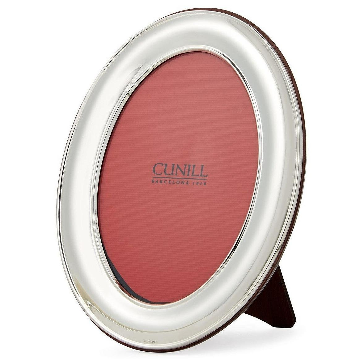 Cunill 96657 Oval Plain 5x7 Frame Sterling Silver Picture Frame by Cunill