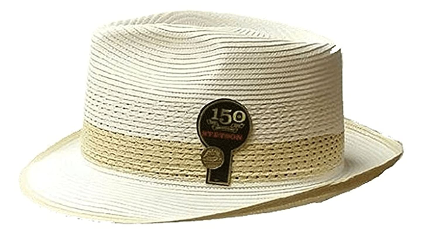 defe267f172 Stetson & Dobbs TSCLWY-3416 Men's Cool Way Milan Straw Fedora Hat, Beige -  XXL: Amazon.co.uk: Clothing