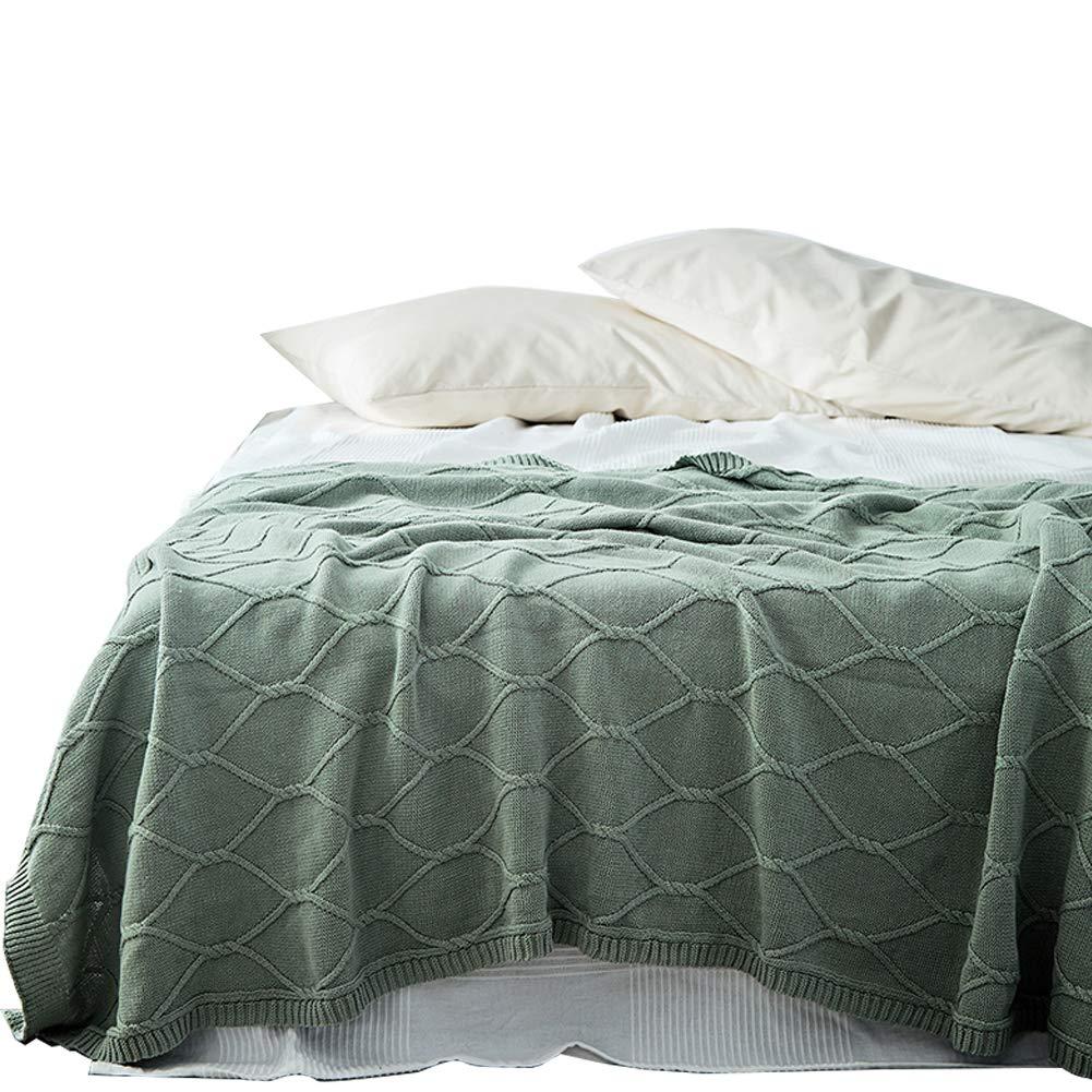 Amazon.com: Soft Blanket Plaid Sofa Cotton Knitting Wool ...