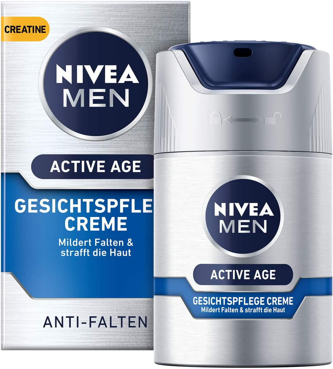 Crema facial Nivea Men Active Age en pack de 1 (1 x 50 ml), crema ...