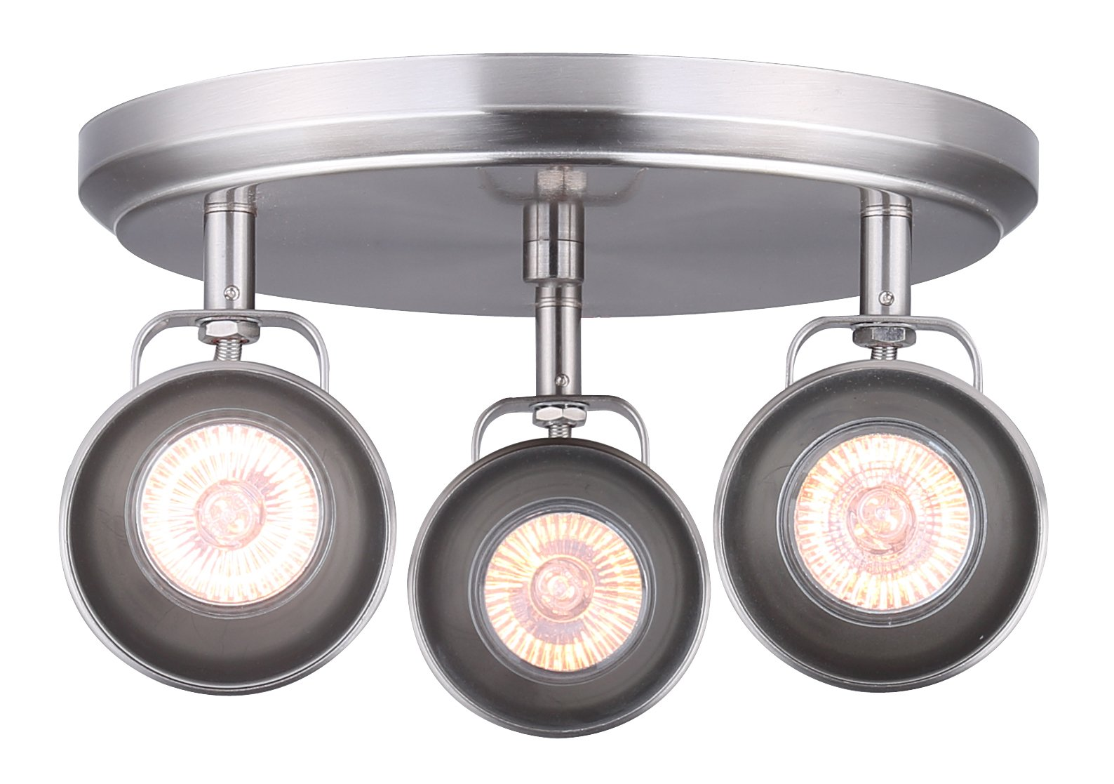 CANARM ICW622A03BN10 LTD Polo 3 Light Ceiling/Wall, Brushed Nickel with Adjustable Heads