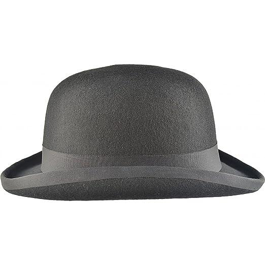 Major Wear 100% Wool Black Bowler Hat Fashion Hat Satin Lining (Small - 55cm 8a9b174edbe5