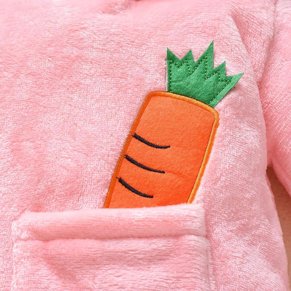 per 0-12 Mesi Tuta da Gioco a Maniche Lunghe con la Tuta a Forma di Coniglio Xuefoo Vestito da Neonato con Cappuccio
